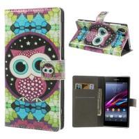 Flip чехол для Sony Xperia Z1 Abstract owl