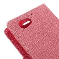 Чехол книжка для Sony Xperia Z1 Compact Pink
