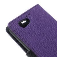 Чехол книжка для Sony Xperia Z1 Compact фиолетовый