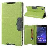 Flip чехол книжка для Sony Xperia Z1 зеленый Mercury CaseOn