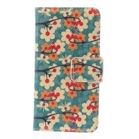 Чехол книжка для Samsung Galaxy S5 mini Blue Flower Pattern