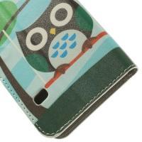 Чехол книжка для Samsung Galaxy S5 mini Fancy Owl