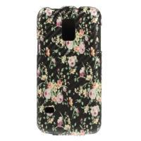Чехол Down Flip для Samsung Galaxy S5 mini Black Flower Pattern