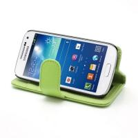 Кожаный Flip чехол для Samsung Galaxy S4 mini зеленый