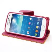 Flip чехол книжка для Samsung Galaxy S4 mini желтый Bubble Gum