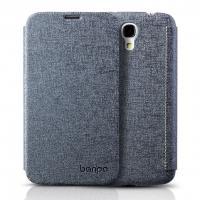 Чехол книжка для Samsung Galaxy Mega 6.3 серый Banpa
