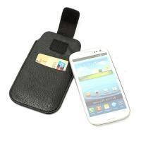Чехол-футляр для смартфона черный цвет Velcro Pouch