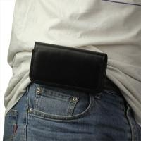 Чехол-футляр на пояс для смартфона черный цвет