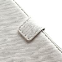 Кожаный чехол книжка для Sony Xperia V белый