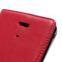 Кожаный чехол книжка для Sony Xperia V красный
