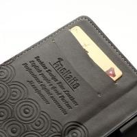 Кожаный чехол книжка для Sony Xperia V розовый