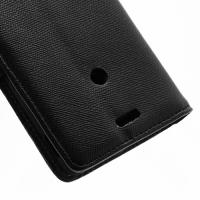 Кожаный чехол книжка для Sony Xperia TX черный