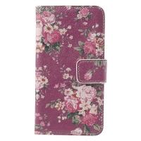 Чехол книжка для Samsung Galaxy S5 Rose Flowers Pattern