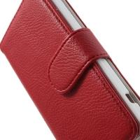 Чехол книжка для Sony Xperia Z1 Compact красный Lichee