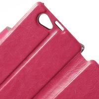 Чехол книжка для Sony Xperia Z1 Compact розовый