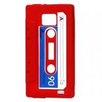 Силиконовый чехол кассета для Samsung Galaxy S2 красный