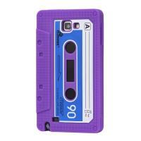 Силиконовый чехол кассета для Samsung Galaxy Note фиолетовый