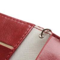 Кожаный чехол-футляр для смартфона красный цвет