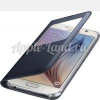 Оригинальный чехол S View Cover для Samsung Galaxy S6 - чёрный