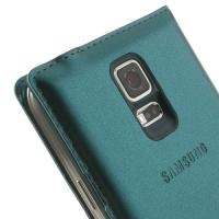Samsung Galaxy S5 S-View Flip Cover синий