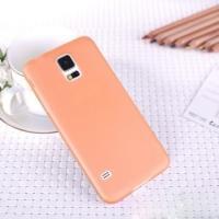 Ультратонкий пластиковый чехол для Samsung Galaxy S5 mini оранжевый