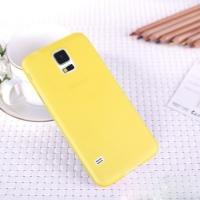 Ультратонкий пластиковый чехол для Samsung Galaxy S5 mini желтый