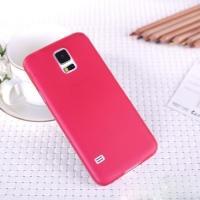 Ультратонкий пластиковый чехол для Samsung Galaxy S5 mini красный