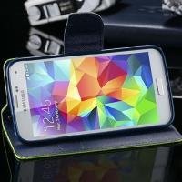 Чехол книжка для Samsung Galaxy S5 Goospery Зелёный