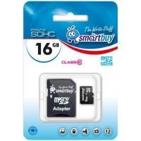 Карта флэш-памяти Micro SDHC SmartBuy 16GB