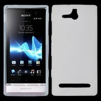 Силиконовый чехол для Sony Xperia U белый