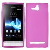 Силиконовый чехол для Sony Xperia U розовый