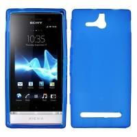 Силиконовый чехол для Sony Xperia U голубой