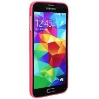Ультратонкий пластиковый чехол для Samsung Galaxy S5 красный