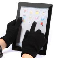 Перчатки для ёмкостных экранов черные