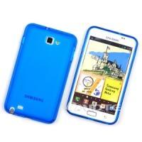 Силиконовый чехол для Samsung Galaxy Note синий