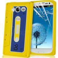 Силиконовый чехол-кассета для Samsung Galaxy S 3 желтый