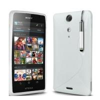 Силиконовый чехол для Sony Xperia TX белый