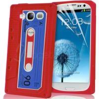 Силиконовый чехол-кассета для Samsung Galaxy S 3 красный