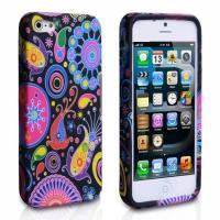 Силиконовый чехол для iPhone 5 и iPhone 5S colorful flowers