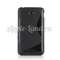 Силиконовый чехол для Sony Xperia E4, Xperia E4 Dual S-обраный чёрный