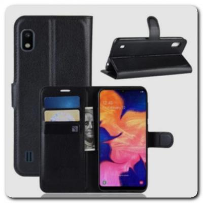 Чехол Книжка Book Wallet с Визитницей и Кошельком для Samsung Galaxy A10 Черный