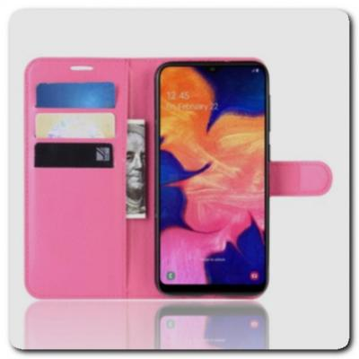 Чехол Книжка Book Wallet с Визитницей и Кошельком для Samsung Galaxy A10 Ярко-Розовый