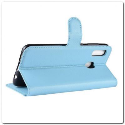 Чехол Книжка Book Wallet с Визитницей и Кошельком для Samsung Galaxy A40 Синий