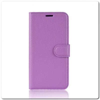Чехол Книжка Book Wallet с Визитницей и Кошельком для Samsung Galaxy A70 Фиолетовый