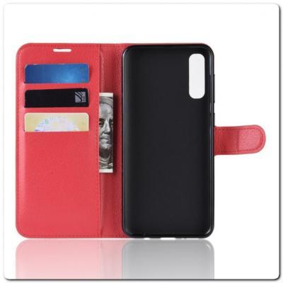 Чехол Книжка Book Wallet с Визитницей и Кошельком для Samsung Galaxy A70 Красный