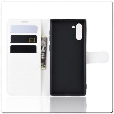 Чехол Книжка Book Wallet с Визитницей и Кошельком для Samsung Galaxy Note 10 Белый