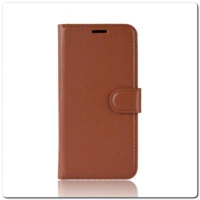 Чехол Книжка Book Wallet с Визитницей и Кошельком для Samsung Galaxy Note 10+ / Note 10 Plus Коричневый