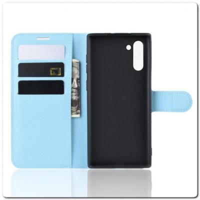 Чехол Книжка Book Wallet с Визитницей и Кошельком для Samsung Galaxy Note 10 Синий