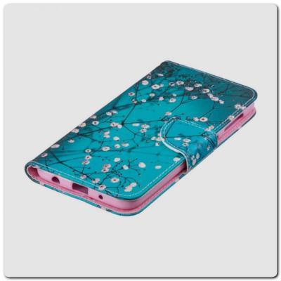 Чехол Книжка Color Wallet с Магнитным Язычком для Samsung Galaxy A10 с Рисунком Дерево С Цветами