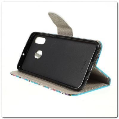 Чехол Книжка Color Wallet с Магнитным Язычком для Samsung Galaxy A30 / Galaxy A20 с Рисунком Милые Совы